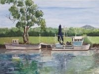 Boats on the Clarence by Skye McKenney