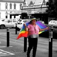 Rainbows on Grey by Abigail Sparks