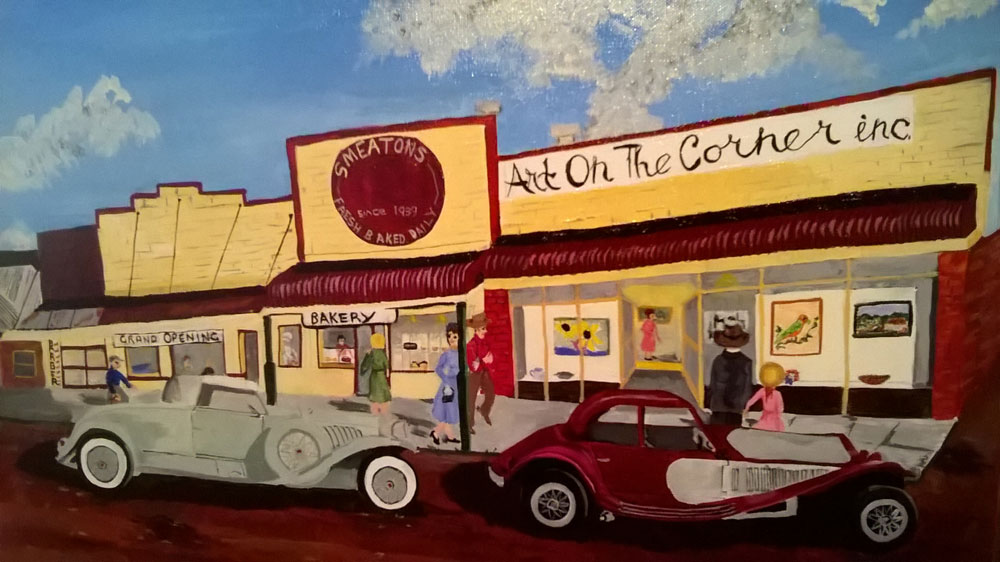Art on the Corner by Marjorie Leggett