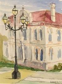 Under the lamplight - watercolour by Karen Munster