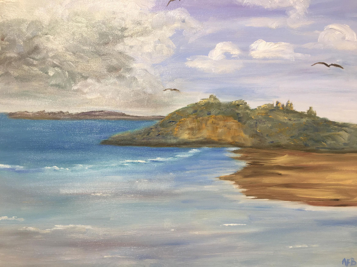 Holiday Memories - Andrea Bowering - Oil - Cloudy Day Yamba