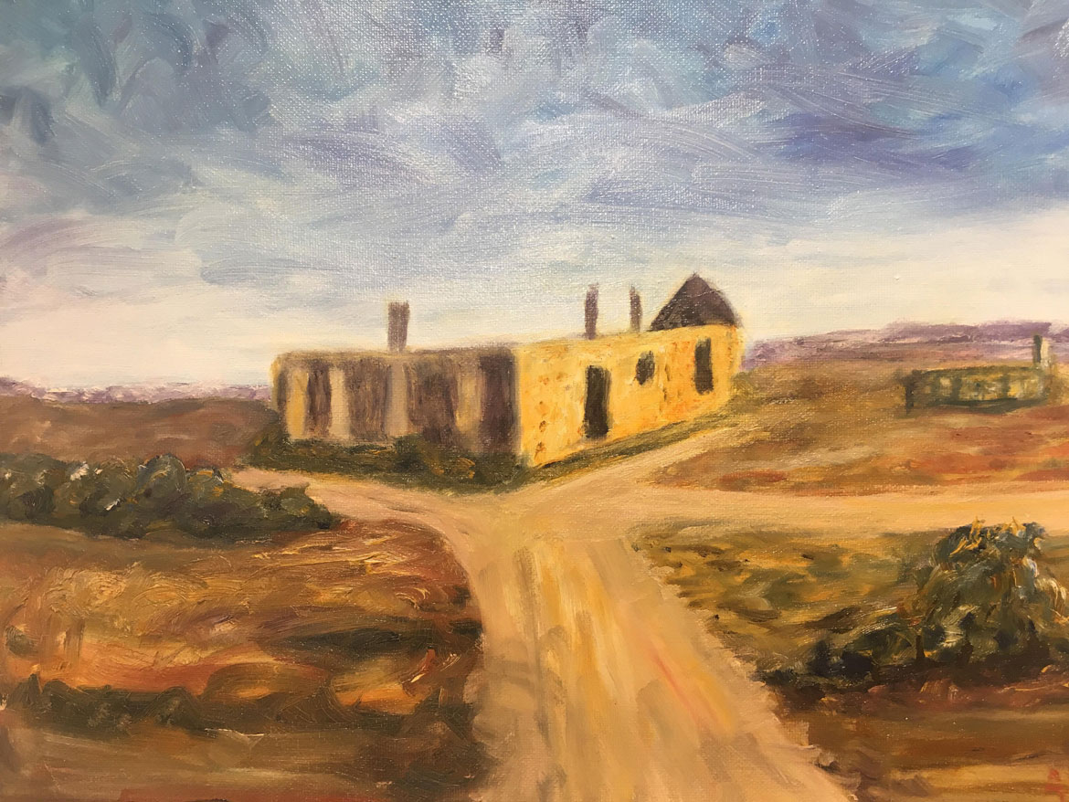 Holiday Memories - Andrea Bowering - Oil - Waukaringa Deserted