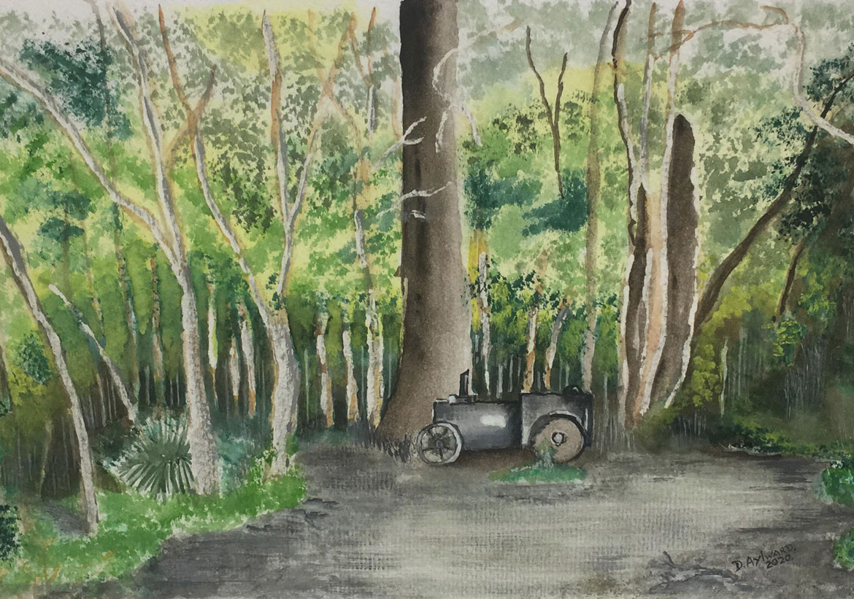 Holiday Memories - Dorothy Aylward - resting - watercolour - Norfolk Island