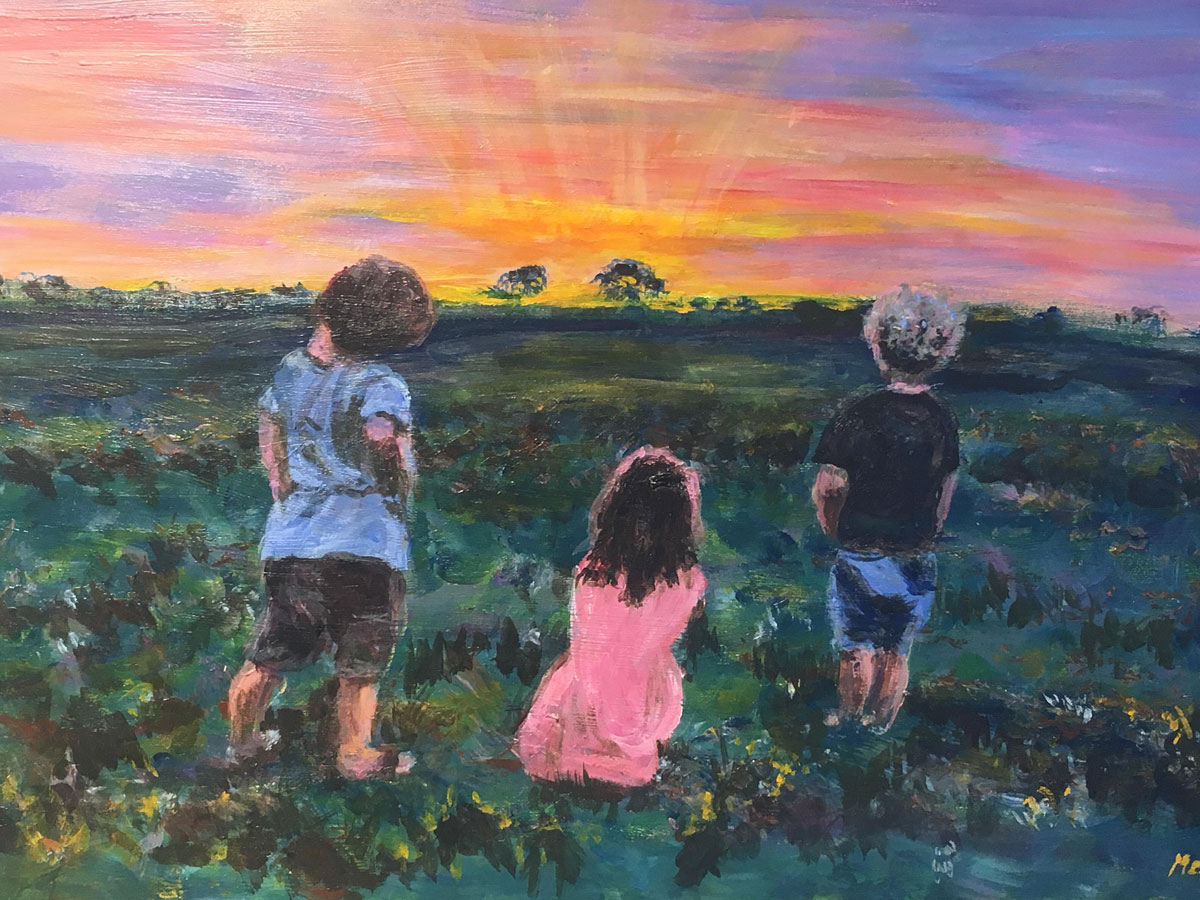 Holiday Memories - Marg Correy - Sunset - Acrylic