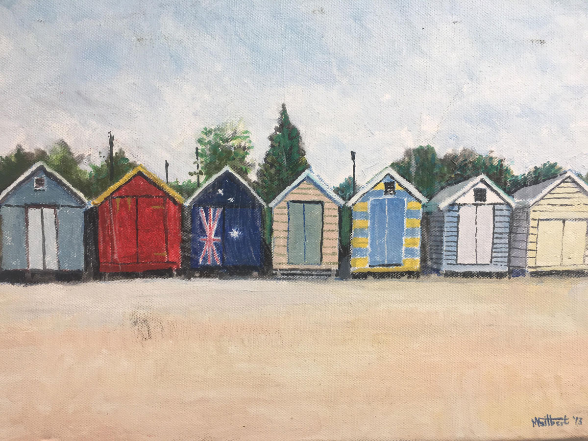 Holiday Memories - Mike Gilbert - Beach Huts