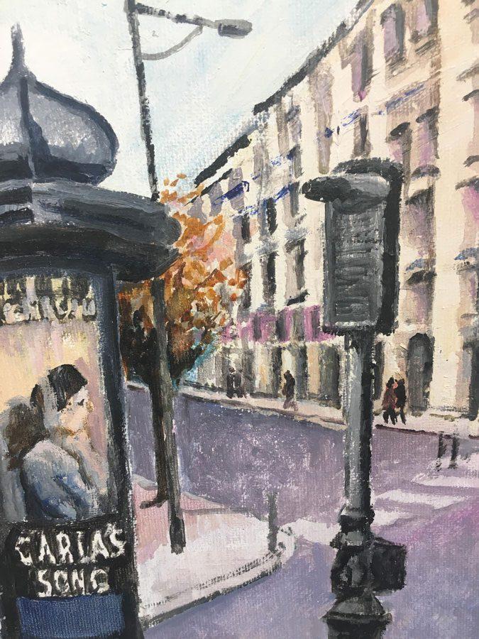 Holiday Memories - Paris - Mike Gilbbert - Oil