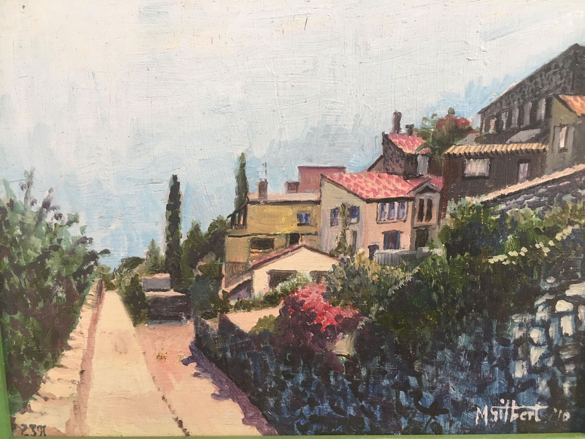 Holiday Memories - Mike Gilbert - Oil - St Paul de Vence